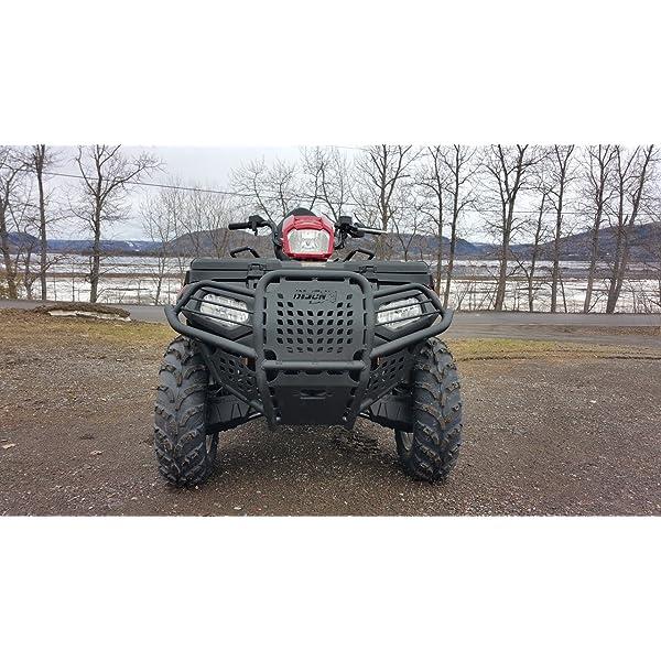 Super ATV Wrinkle Black Front Brush Guard Polaris Sportsman