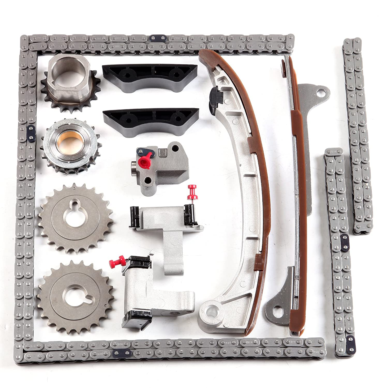 Timing Chain Kit ECCPP Automotive Replacement Timing Parts For 2007-2011 Cadillac Buick 3.6L 06-11 Saab 9-3 2.8L V6 DOHC
