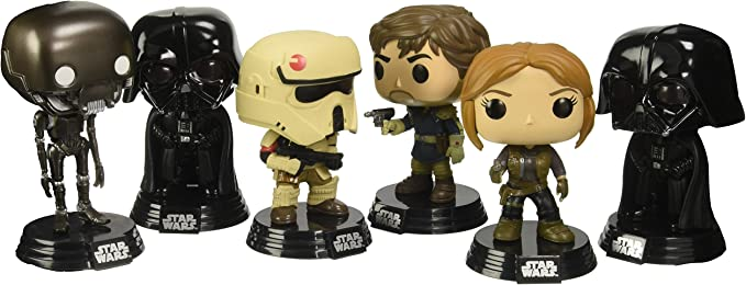 Funko 11891-px-ast – Star Wars Rogue One, Pop 6-Pack jyn, Cassian, k-2so, Scarif Stormtropper, 2 x Darth Vader: Amazon.es: Juguetes y juegos