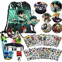 My Hero Academia Bag Gift Set Bag+Blacelet+Sleutelhanger+Knop+Telefoonhouder+Stickers of Poster of Kussensloop of…