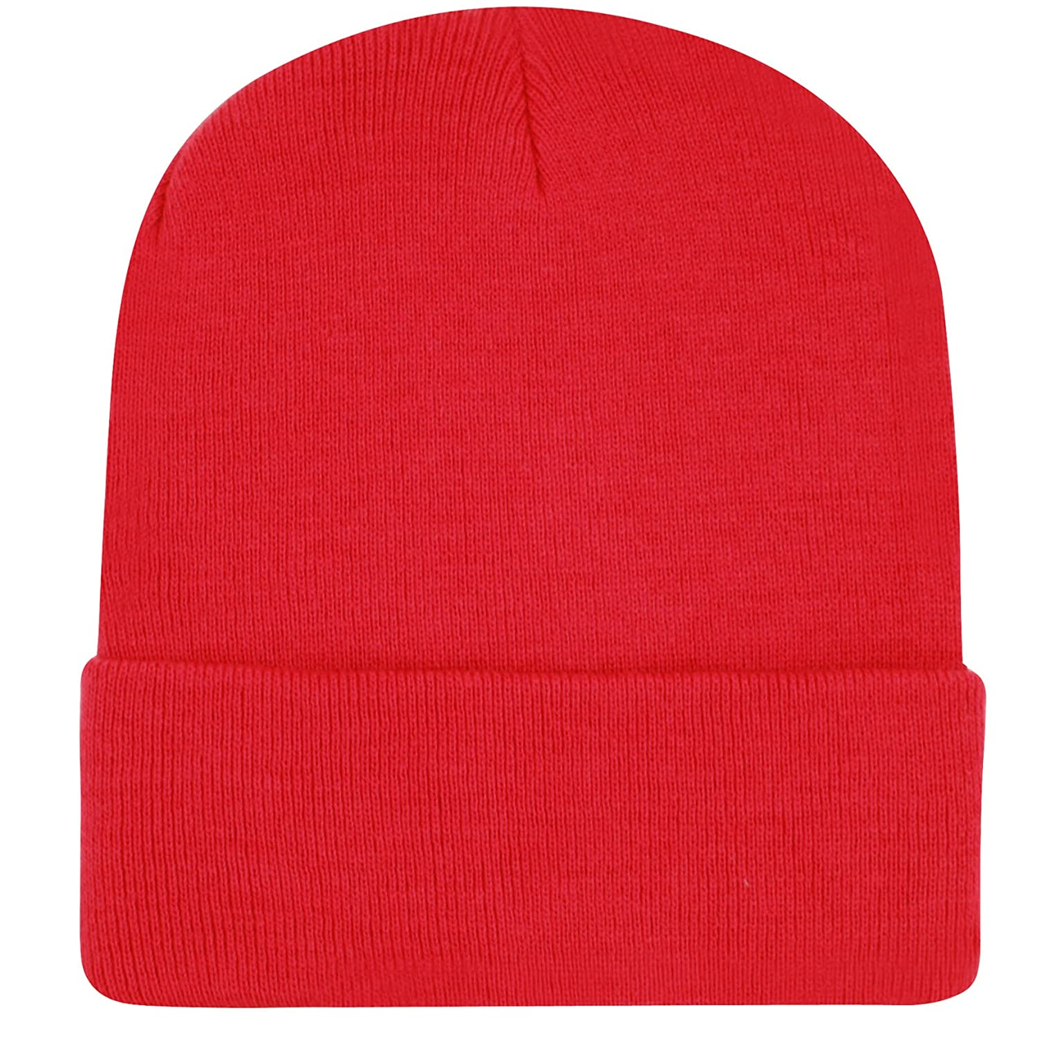 19163c1ff798d E-Flag Plain Knit Cap Cold Winter Cuff Beanie (22+ Colors Available) (A  RED) at Amazon Men s Clothing store