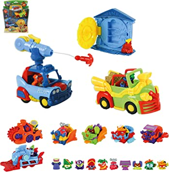 SuperZings Serie 5 - Bank Assault Mission 4 y Pack Sorpresa con 16 Sets | Contiene Blíster Bank Assault, 10 Sobres One Pack, 4 Aerowagons y 2 Skyracers | Juguetes y Regalos para Niños: Amazon.es: Juguetes y juegos