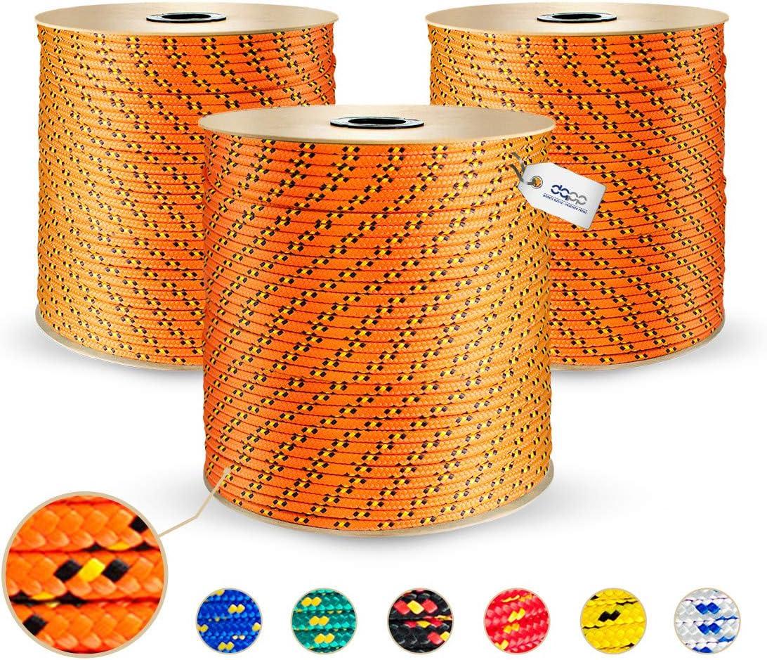 Reepschnur Leine Tau Schnur Festmacher Rope 20 Meter- Polypropylenseil 4mm orange
