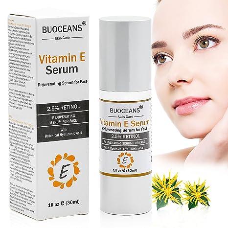 Sérum facial con vitamina E y ácido hialurónico, antiedad, hidratante y antiarrugas, que