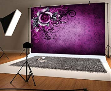Gothic 8x10 FT Photo Backdrops,Abstract Old Fashioned Blossoms Nature Inspired Feminine Pattern Baroque Influences Background for Baby Shower Bridal Wedding Studio Photography Pictures Tan Black