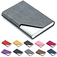 e16c04957c87c Business Name Card Holder Luxury PU Leather   Stainless Steel Multi Card  Case