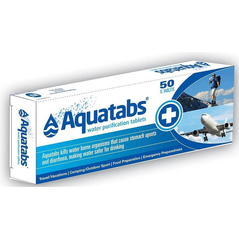 Tabletas AQUATABS de 50 pastillas purificadoras de agua por senderismo Martinez Albainox