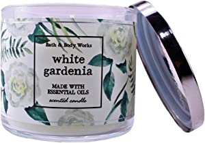 White Barn Bath and Body Works White Gardenia 3 Wick Scented Candle 14.5 Ounce