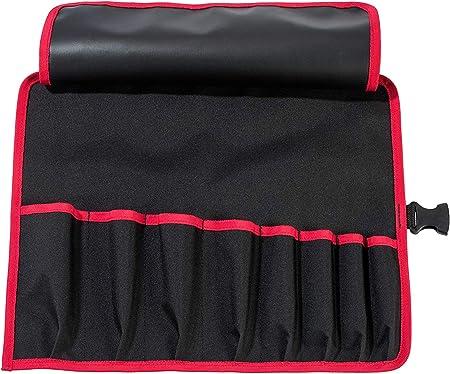 Parat 5990826991 Basic /Étui /à outils enroulable en nylon 8 compartiments avec fermeture /à clip 41 x 33 x 0,5 cm Noir