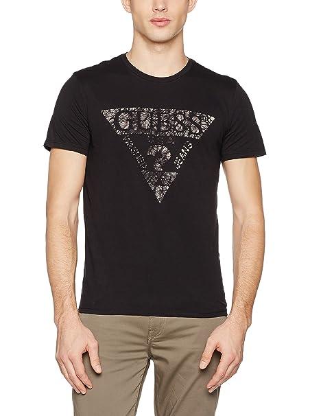 GUESS JEANS M63I76I3Z00 Camiseta con Las Mangas Cortas Hombre: Amazon.es: Ropa y accesorios