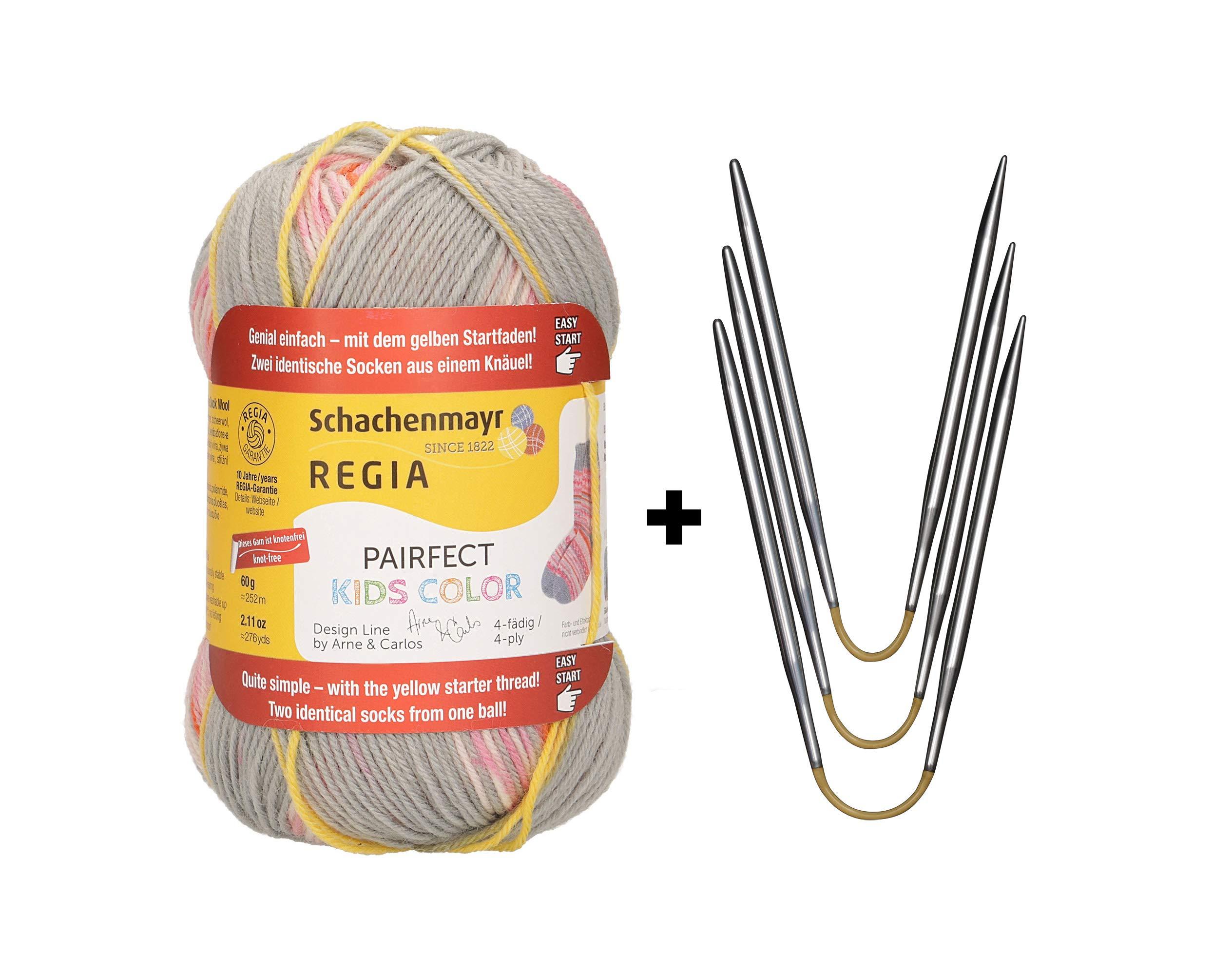 Sock Starter Kit addi CraSy Trio (US2.5/3mm) + REGIA Kids Color Pairfect (02983)