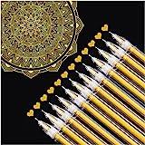 Dyvicl Gold Gel Pens, 0.5 mm Extra Fine Pens Gel Ink Pens for Black Paper Drawing, Sketching, Illustration, Adult Coloring, B
