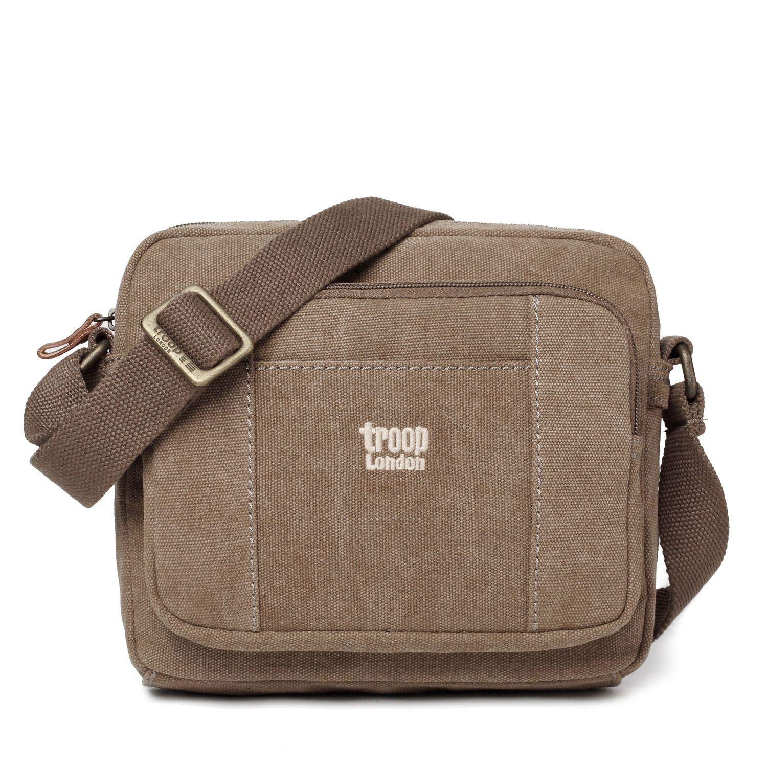 Troop London Buddy Sac /à bandouli/ère Gris anthracite, Noir