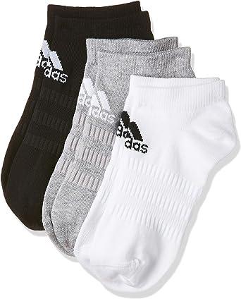 utilizar Enseñando entrevista  Amazon.com: 3 pares de calcetines cortos unisex de adidas Performance No  Show, color: negro - blanco - gris, calcetines y medias: 37-39: Clothing