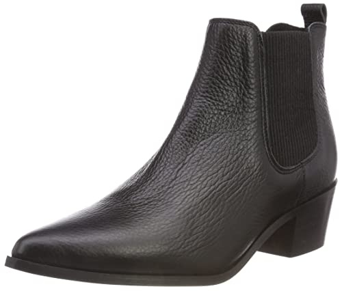Pieces Psdelta Leather Boot, Botines para Mujer: Amazon.es: Zapatos y complementos