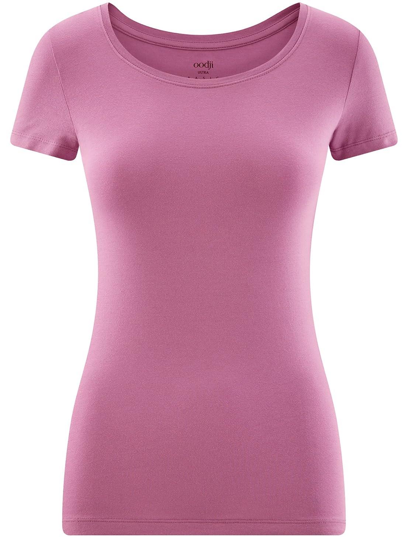 oodji Ultra Damen Tailliertes T-Shirt Basic