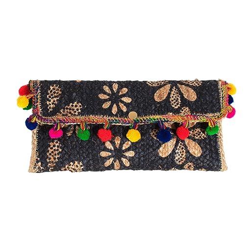 Parfois - Clutch - Bolso De Fiesta Straw - Mujeres - Tallas M - Azul