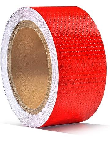 5cm X 10m Pegatina de Cinta Reflectante, ONTWIE Cinta Reflectante Adhesiva Pegatina Seguridad Alta Intensidad