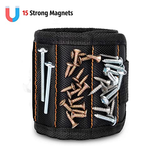 Tool Bags Good Strong Magnetic Wristband Tool Belt Holders With Strong Magnets For Holding Screws Nails Drill Bits Repair Hand Tools Organizer Non-Ironing Tools