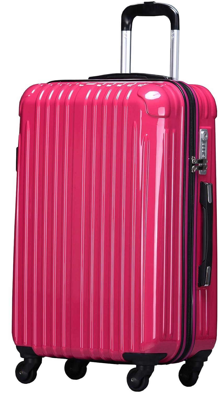 ラッキーパンダ スーツケース TY001 ハード 超軽量 TSAロック ファスナータイプ 機内持込 B01AA20N18 Lサイズ(長期旅行向け)|マゼンタ マゼンタ Lサイズ(長期旅行向け)