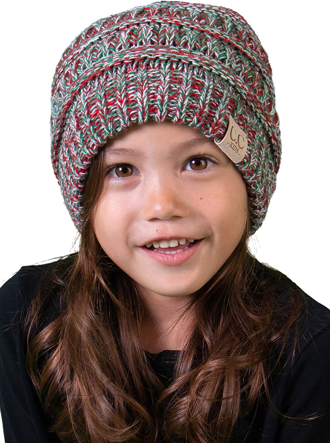 Funky Junque Kids Baby Toddler Ribbed Knit Children/'s Winter Hat Beanie Cap