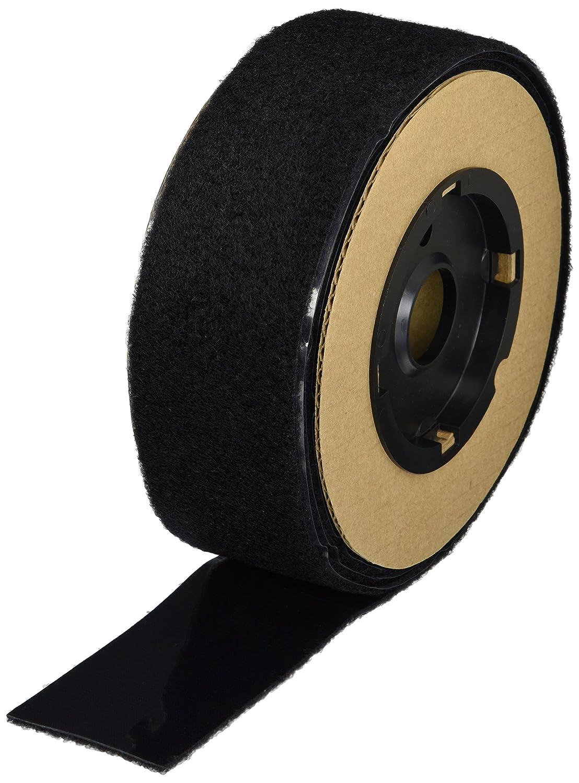 VELCRO 3806-SAT-PSA//L Black Woven Nylon Loop 1000 15 Length 0132 Adhesive Backed 2 Wide