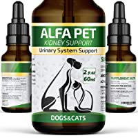 Alfa Pet UTI Treatment for Cats and Dogs - Kidney Remedy with Cranberry - Kidney Bladder Urinary Support - Relief Frequent Urination 2oz
