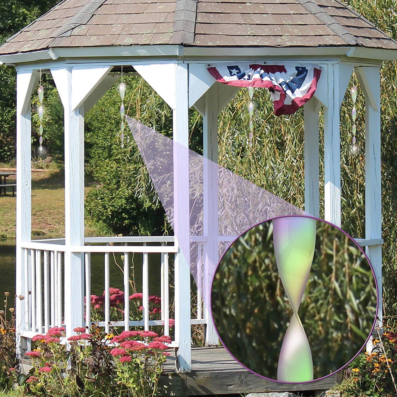 Vogelschreck zur Vogelabwehr Abwehr von V/ögeln Dekoration f/ür Balkon und Garten Haimist Reflektierende Vogelschreck 12er Set Reflektierende Windspirale