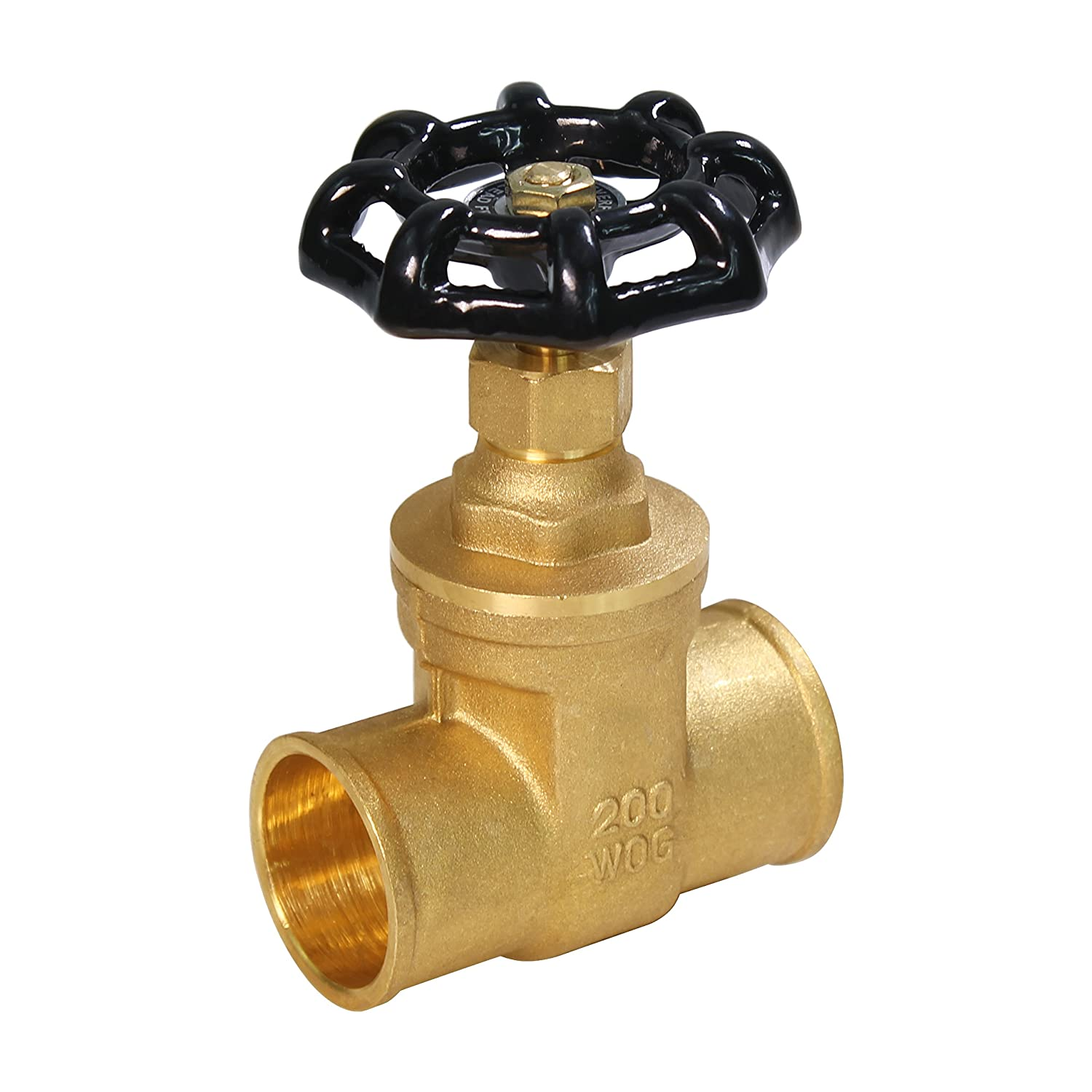 Everflow Supplies 205C012-NL Brass Gate Valve Sweat 1//2 Inch-Lead Free