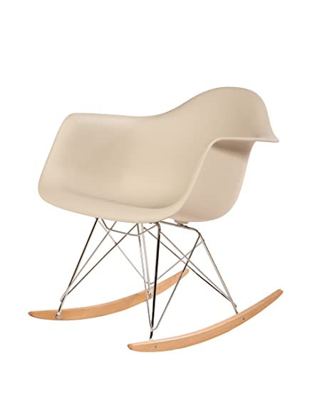 stilnovo adult midcentury rocking chair with arms u0026 ash wood sleighs beige
