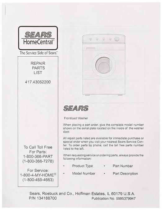 Frigidaire 5995379947 lavadora partes catálogo: Amazon.es ...