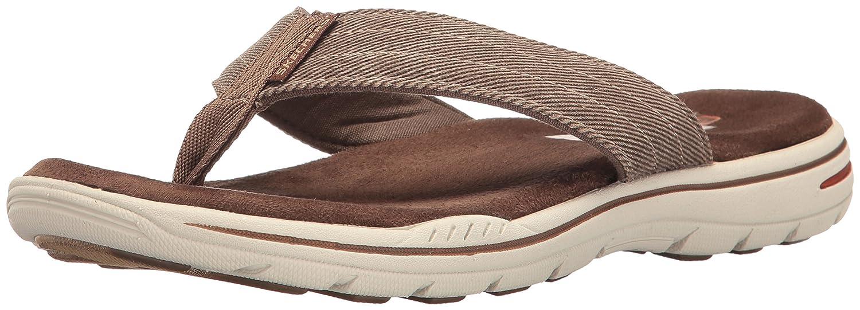 Skechers Men's Evented Rosen Flip Flop B01JIL7YHI 12 D(M) US|Chocolate