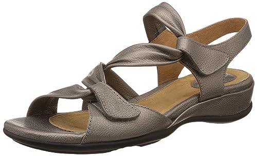 1b9a0afe3627 Clarks Women s Meza Lucena Pewter Metallic Leather Fashion Sandals - 3.5 UK  India (36
