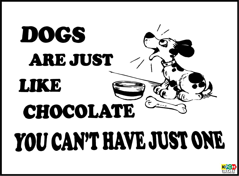 Witziges Schild Hunde wie Schokolade nicht haben können 1 ...