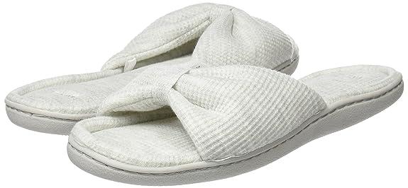 Women'Secret Mu1-Knot Slprs, Zapatillas de Estar Por Casa para Mujer, Gris (Grey), 42 EU