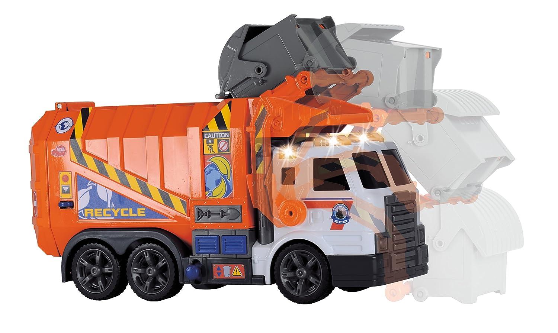 Dickie - Camión de Basura Naranja (3308369): Amazon.es: Juguetes y juegos