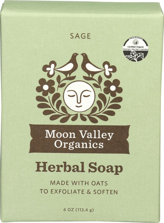 Moon Valley Organics, Soap Bar Oatmeal Sage Organic, 4 Ounce