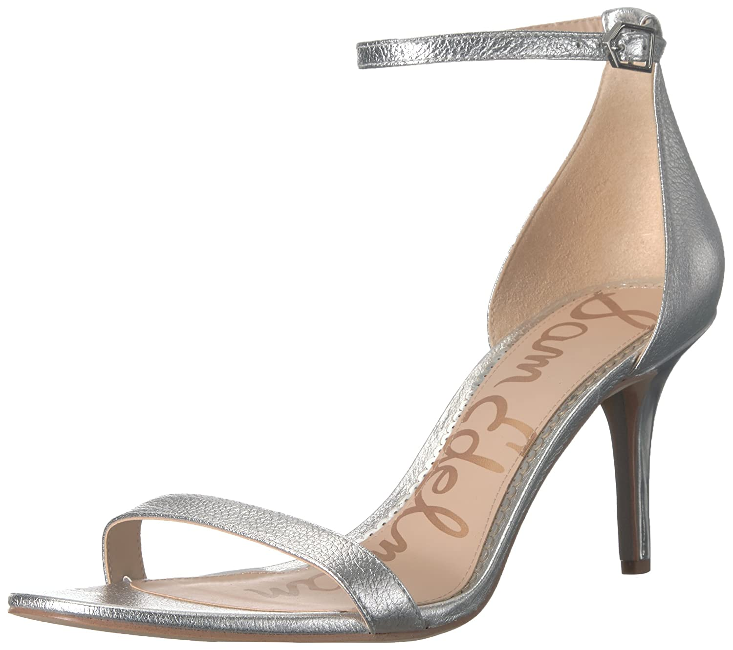 Sam Edelman Women's Patti Dress Sandal B019O8GQ7O 9 B(M) US|Soft Silver/Metallic Leather