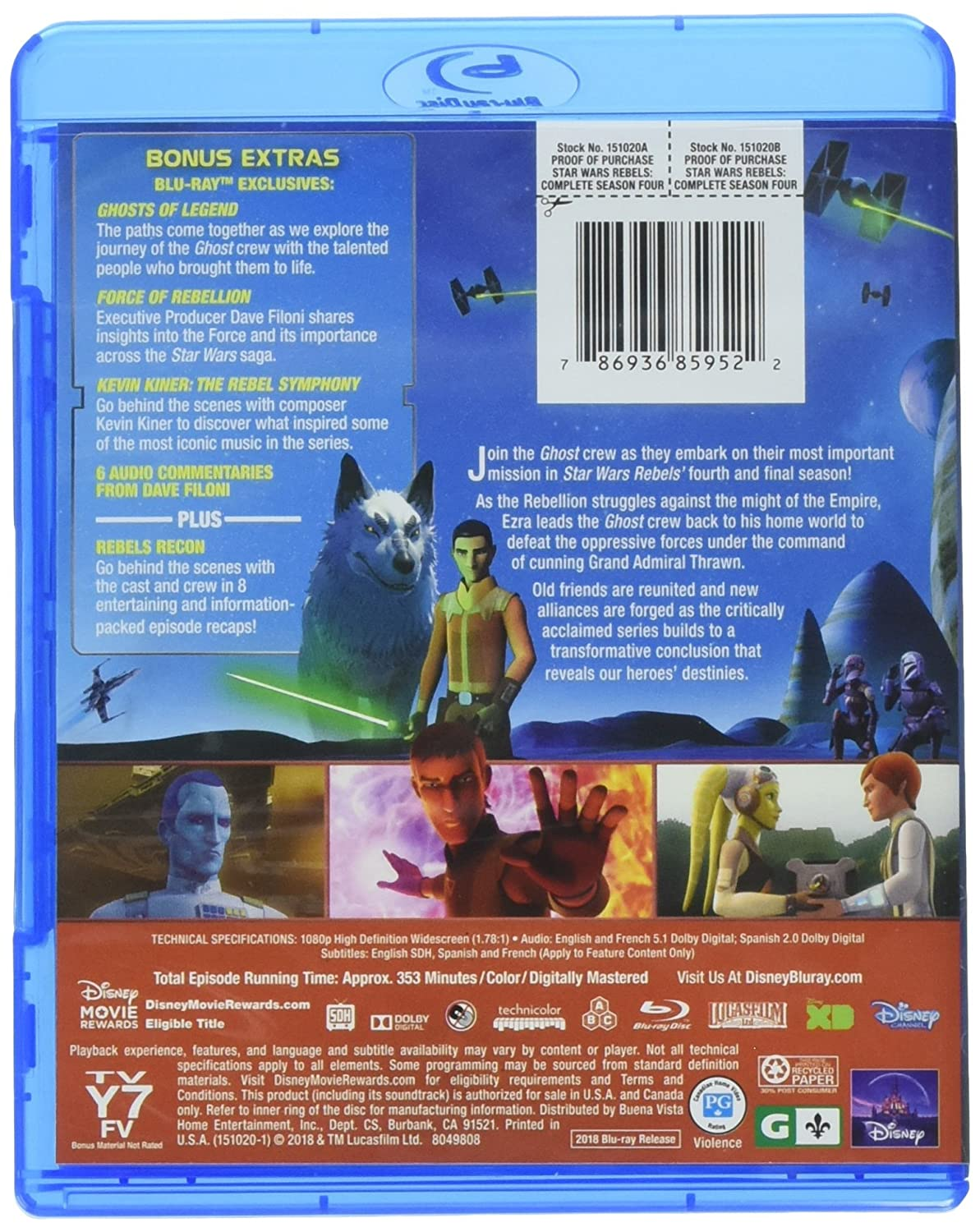 Amazon com: STAR WARS REBELS: COMPLETE SEASON FOUR (HOME VIDEO