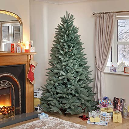 722e1c3300ad Image Unavailable. Image not available for. Colour: 6ft Blue/Green Louise  Fir Luxury Premium PE Christmas Tree