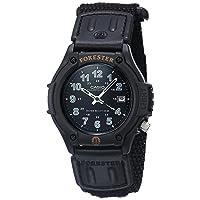 Men's Sport Watch Quartz Nylon Strap, Black, 22 (Model: FT500WC-1BVCF)