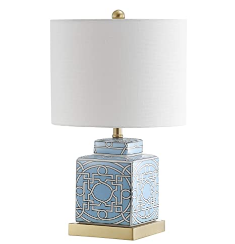 Jonathan Y Jyl3044a Catherine 22 Ceramic Metal Ginger Jar Table Lamp Blue White