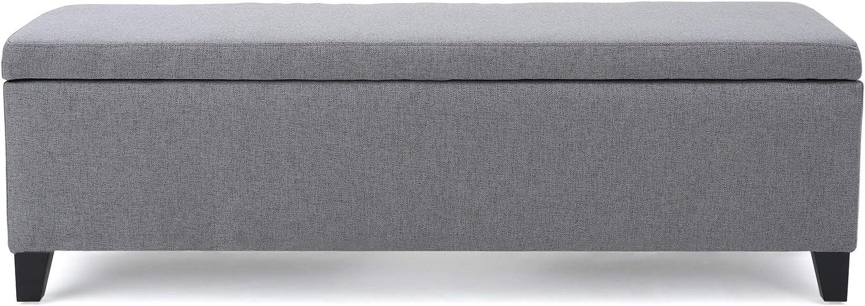 Christopher Knight Home Cleo Fabric Storage Ottoman, Grey
