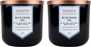 Chesapeake Bay Candle The Collection Two-Wick Scented Candle, Blue Cedar Fig, 2 Count