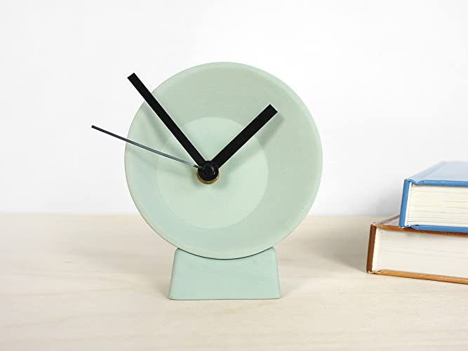 Monet watch orologio da tavolo con sveglia struttura in radica