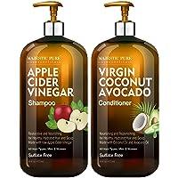 MAJESTIC PURE Apple Cider Vinegar Shampoo and Avocado Coconut Conditioner Set -...