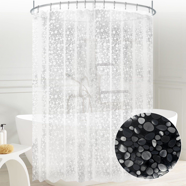 Amazoncom Carttiya Eva Shower Curtain Liner, Mildew Resistant Anti Bacterial Clear