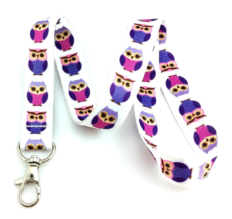 Trendigem lila Eule Print Lanyard Schlüsselanhänger ID Badge Holder B00KERXMA4 | Sorgfältig ausgewählte Materialien