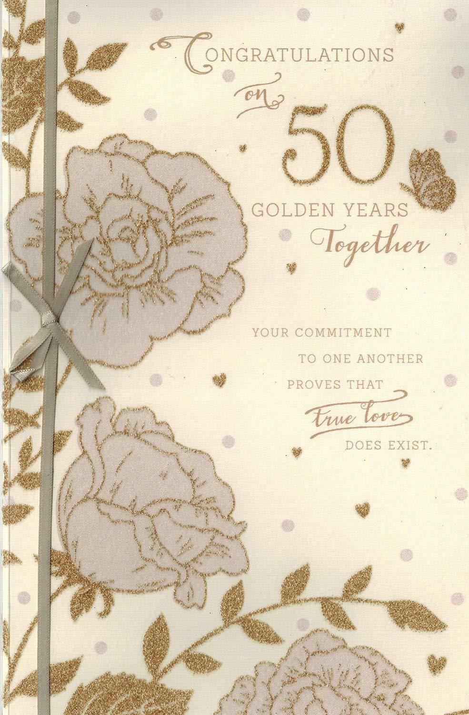 Felicidades en una tarjeta de 50 aniversario años juntos: Amazon ...