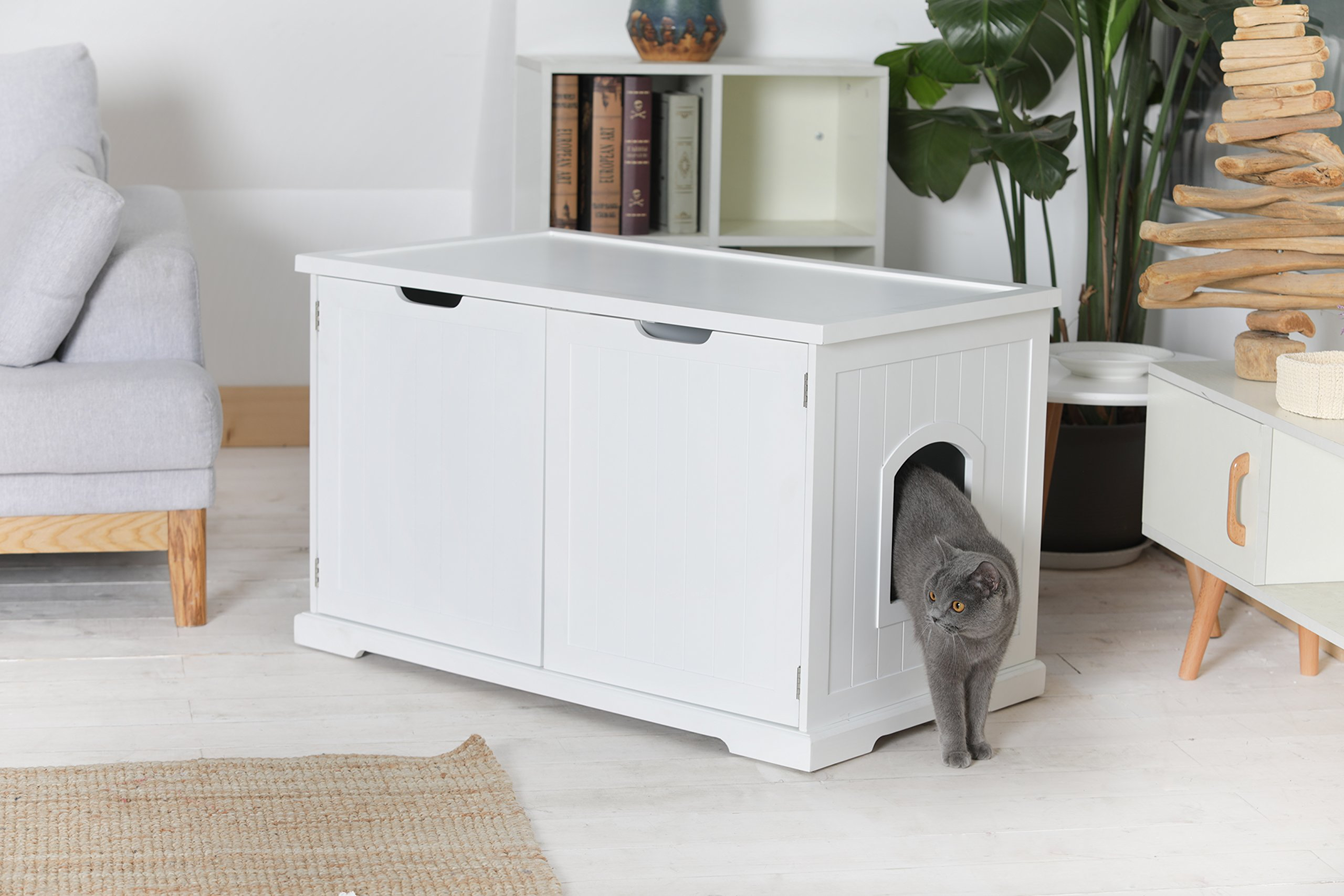 Merry Products Cat Washroom Bench, White by Merry (Image #7)